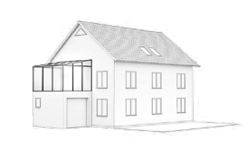 Wintergarten Dachform-Typ-H-2