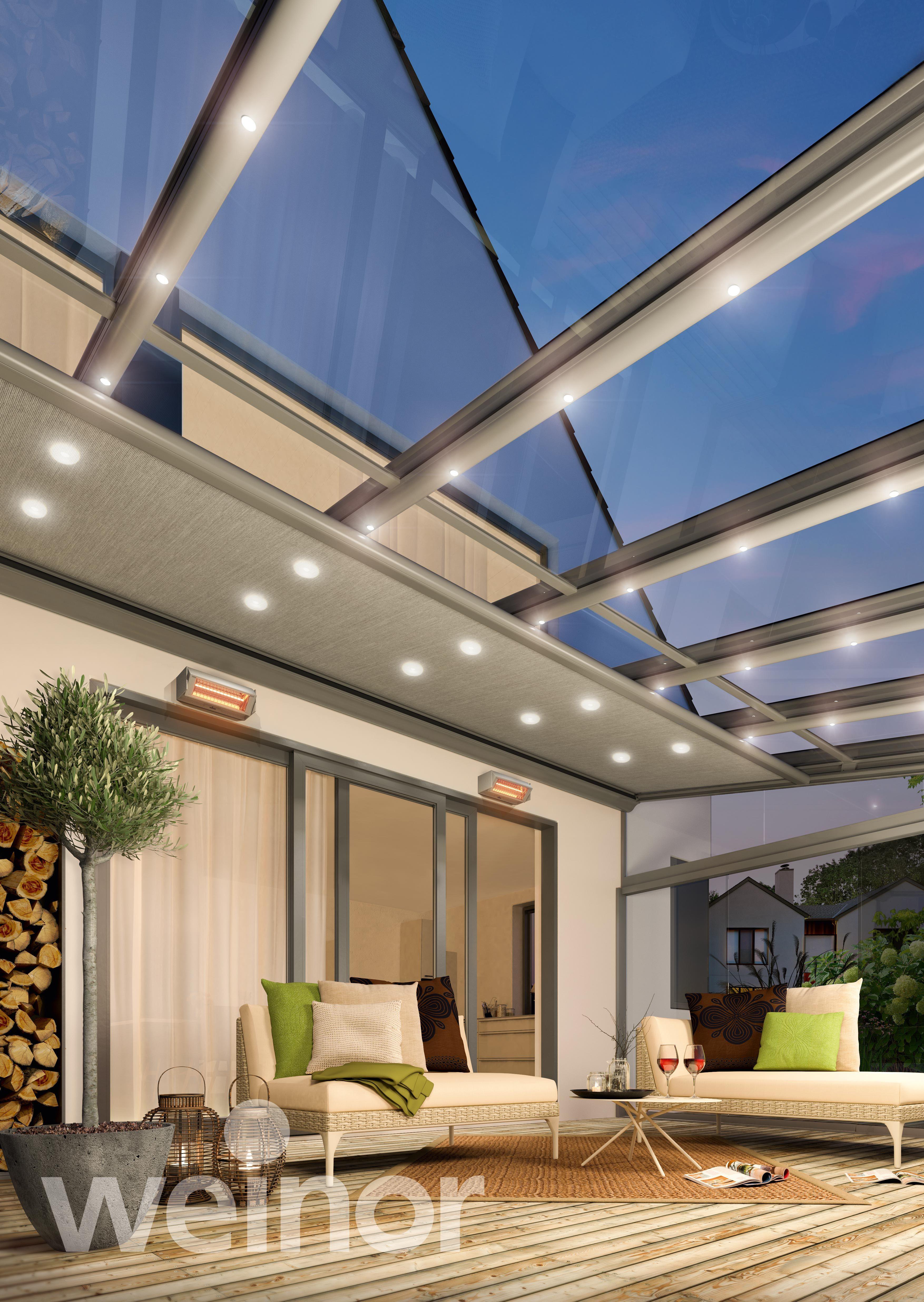 LED-Lichtleisten-Terrassendach