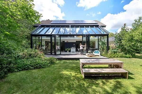 Ecoline Solarlux Wintergarten aussen