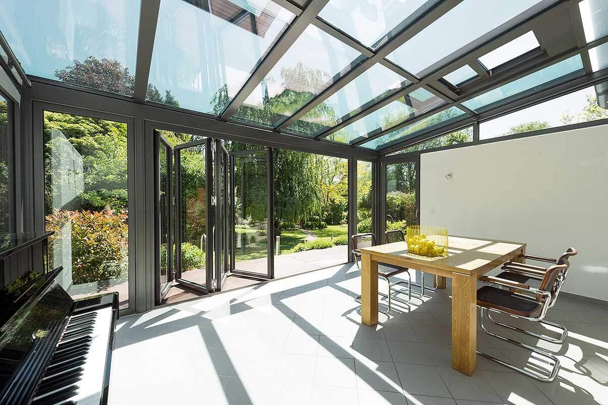 Wohnraum Wintergarten Solarlux